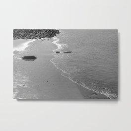 Lisbon sea 4 black white Metal Print