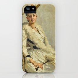 Alexander Mann, R.O.I. 1853-1908 PORTRAIT OF MADEMOISELLE B. iPhone Case