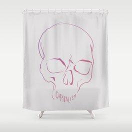 Capitalism - Scull print Shower Curtain
