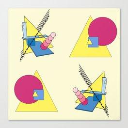 The Shape Haus: a Contemporary Bauhaus Composition Canvas Print