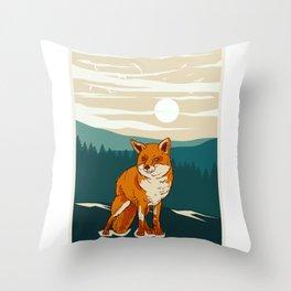 Fox Animal Throw Pillow
