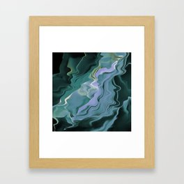 Teal Turbulence Framed Art Print