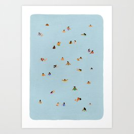 Dusty blue II Art Print