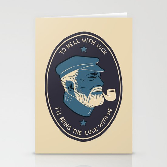 To Hell With Luck! Stationery Cards
