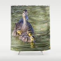 family Shower Curtains featuring Family by Imagevixen