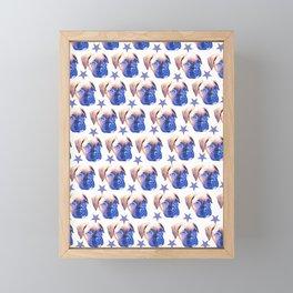 Boxer puppy stars Framed Mini Art Print