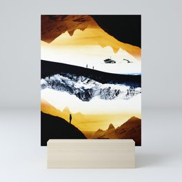 Hiking for Blue Isolation Mini Art Print
