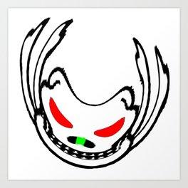Wonky Skeleton Art Print