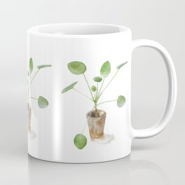 Pilea. Chinese money plant. Coffee Mug