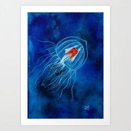 Immortal Jellyfish Art Print
