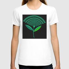 Mid Century Modern Dandelion Seed Head In Carnival Glass T-shirt