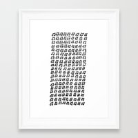 music notes Framed Art Prints featuring MUSIC Notes  by Joe Shmo