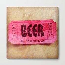 Beer Time Metal Print