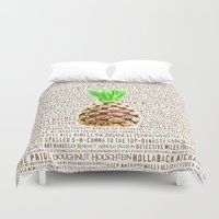 psych Duvet Covers featuring Psych Revamped! Complete List of Gus Nicknames!  by Canis Picta
