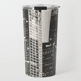 San Francisco Skyline Black and White Travel Mug