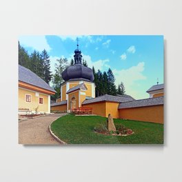 The Kalvarienberg church of Schenkenfelden I | architectural photography Metal Print
