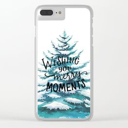 Merry Moments Clear iPhone Case