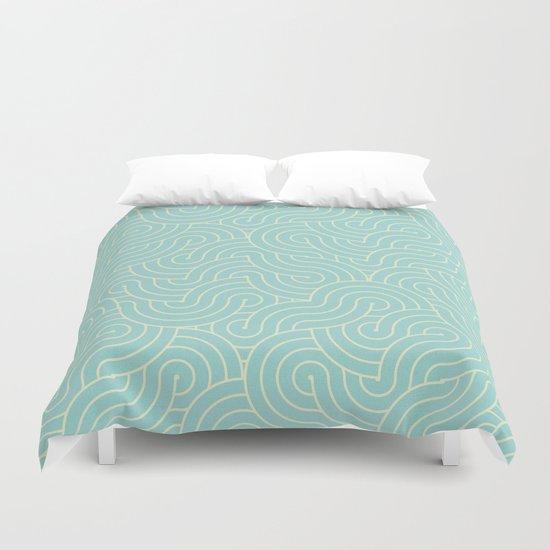 SWIRL / breeze Duvet Cover