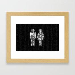 Love in Cyberspace Framed Art Print