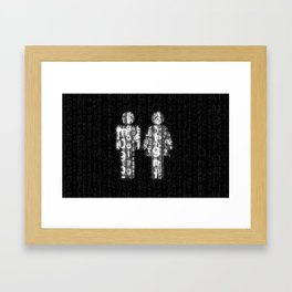 Love in Cyberspace Framed Art Print