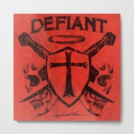 Defiant Metal Print