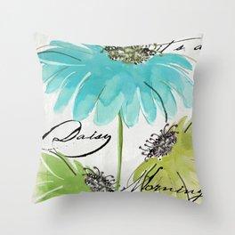 Daisy Morning I Throw Pillow
