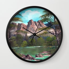 Mountains in Summer Wall Clock