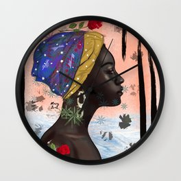 Peace in storm Wall Clock