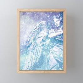 Celestial Guardian Angel Periwinkle Blue Framed Mini Art Print