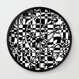 Smiley Damier 1 Wall Clock