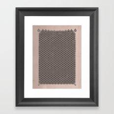 眞銀용갑옷 - Mithril DRAGON SCALES ARMOR CAPE Framed Art Print