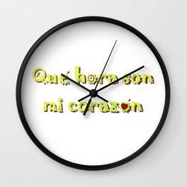 Que hora son Wall Clock