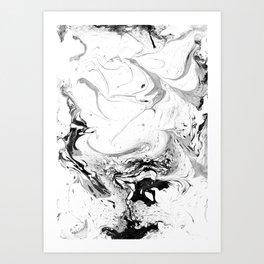 // MARBLED WHITE // Art Print