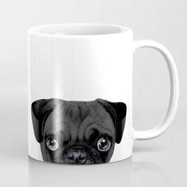 Black Pug, Original painting by miart Coffee Mug