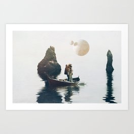 Searching Land Art Print