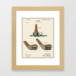 Golf Club Patent - Colour (v2) Framed Art Print
