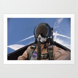 123. Photographer Carla Thomas on a Supersonic Flight Art Print