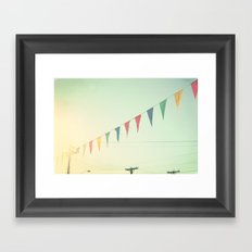 country bunting Framed Art Print