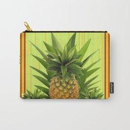 MODERN GREEN-YELLOW  HAWAIIAN PINEAPPLE ART Carry-All Pouch