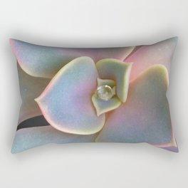 Succulent Dew Drop Rectangular Pillow