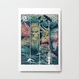 Game of Animals Metal Print