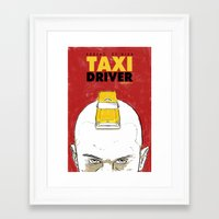 taxi driver Framed Art Prints featuring Taxi Driver by Matthew Bartlett