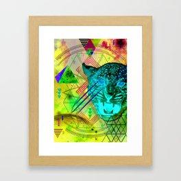 Intergalactic Leopard Framed Art Print
