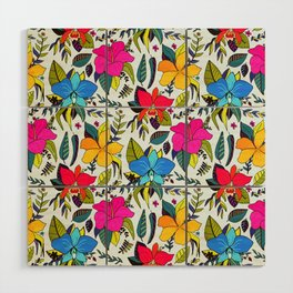 Tropical Floral Wood Wall Art