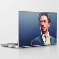 robert downey jr Laptop & iPad Skins featuring R. Downey Jr. **** by Hands in the Sky
