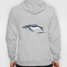 Humpback whale with calf Hoody