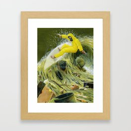 Coastal Pollution Framed Art Print