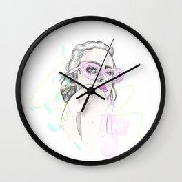 Summer Shades Fashion Illustration Wall Clock