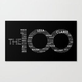 The 100 - Typography Art [white text] Canvas Print