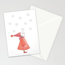 Gnome First Snow Stationery Cards